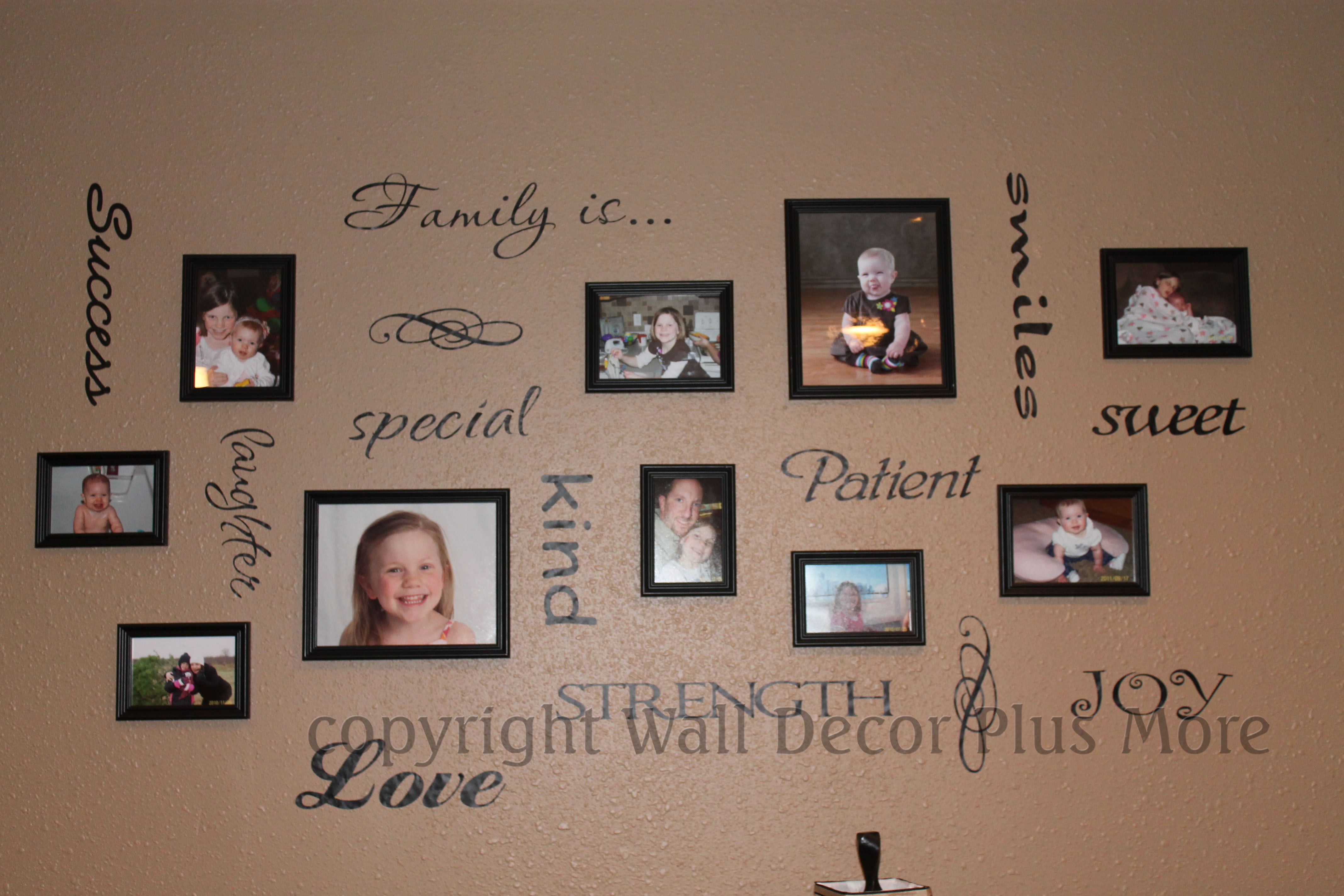 WD083 Family Is...Wall Decal Quote for Picture Gallery Wall Arrangement